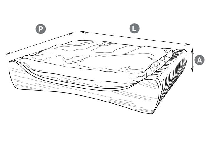 cama pet de madeira teca dimensões